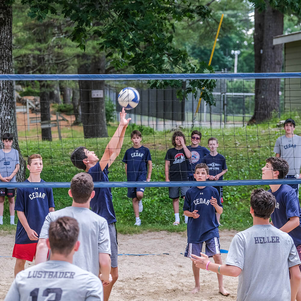 a-volleyball